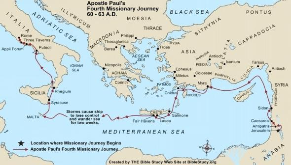 Paul's Fourth Missionary Journey